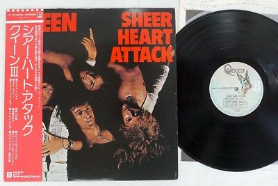 QUEEN SHEER HEART ATTACK ELEKTRA P-10137E Japan OBI VINYL LP