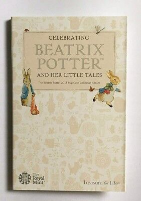 2018 Royal Mint Beatrix Potter 50p Collector Album/Folder. Flopsy, Tittlemouse..