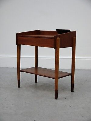 1960s VINTAGE ORIGINAL DANISH BORGE MOGENSEN BEDSIDE TABLE FOR SOBORG DENMARK