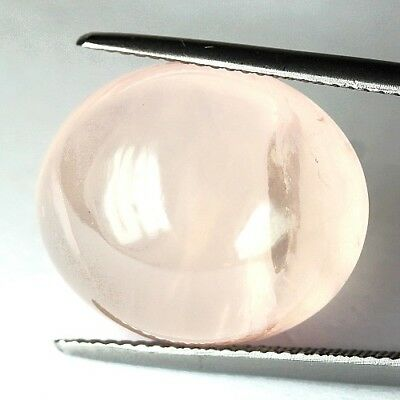 #22.50 cts 19 x 15.8 mm. UNHEATED NATURAL CABOCHON ROSE QUARTZ OVAL MADAGASCAR