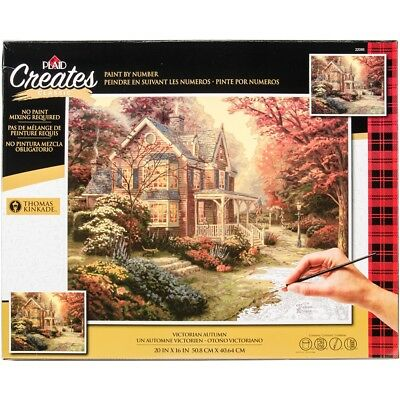 "Thomas Kinkade Paint By Number Kits 16""x20""-victorian Autumn"