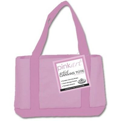 "Pink Art Artist Canvas Tote-17""x12"""