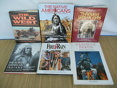 Lot of 6 American Indian Books, Wild West, Untold Story, Fire & Rain, History