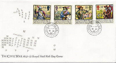 (23942) GB Civil War FDC HOUSE OF LORDS CDS 1992