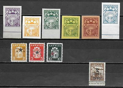 Latvia stamps ATTRACTIVE Collection of PROOFs&ERRORs HIGH VALUE!