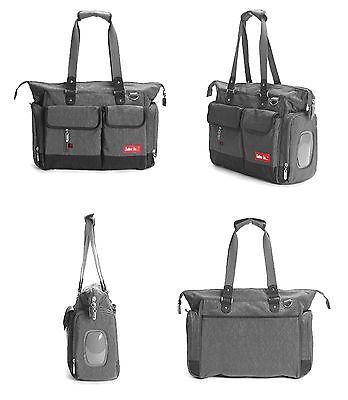 Ex Display Baby Changing Bag Large Nappy Bag Diaper Tote 5PCS Grey N44