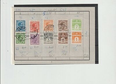 Denmark, 7 different tete beche including 4 used and 3 mint (S17)