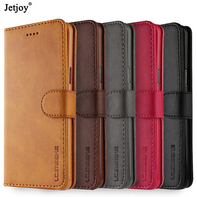 Luxury Genuine Leather Flip Wallet Case Cover For Samsung Galaxy S8 S9+ Note 9/8
