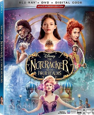 The Nutcracker and the Four Realms Blu-ray + DVD w/LE embossed slipcover 01/29