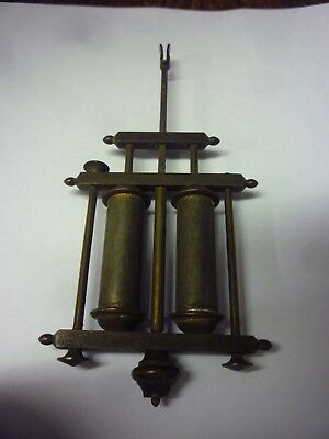 Original Antique Brass Regulator Type Clock Pendulum