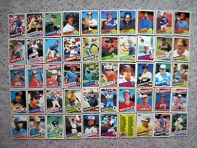 TIFFANY 1985 TOPPS BASEBALL CARDS LOT Huge 200 DIFFERENT CARDS Rare