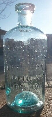 RARE!! Dr. Langley's Root & Herb Bitters Bottle, Boston with Backwards Address!