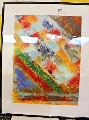 """Framed Abstract Painting """"bungee2""""  M Hill 2018 ##der 62 Sg"""