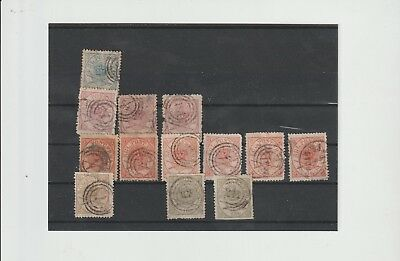 Denmark, skilling emblems 2,3,4,8 & 16, mixed condition min cat $520 (S29)