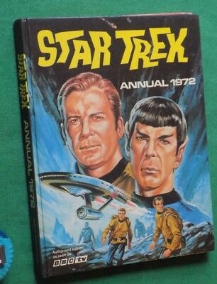 Vintage 1972 annual Star Trek unclipped nice condition