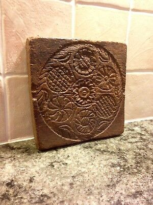 Antique Carved Oak Panel With Floral Patterns. 16th/17th/18th Century?