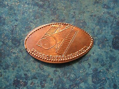 SPACE CENTER HOUSTON TEXAS Elongated Penny Pressed Smashed 22