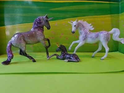 breyer stablemate unicorn family with ooak custom foal