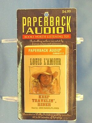 LOUIS L'AMOUR - Keep Travelin', Rider - BRAND NEW Paperback Audio