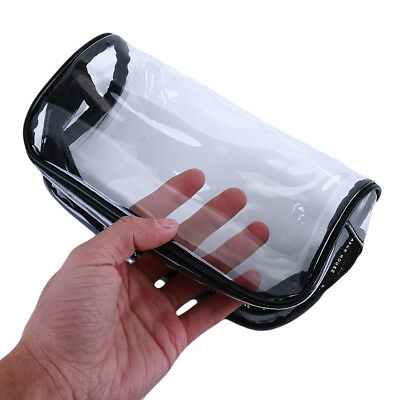 Portable Travel Transparent Cosmetic Toiletry Wash Finishing Storage Bag LD