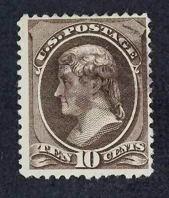 CKStamps: US Stamps Collection Scott#209b 10c Jefferson Used Lightly Crease $350