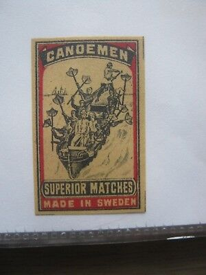 Old Swedish Matchbox Label.
