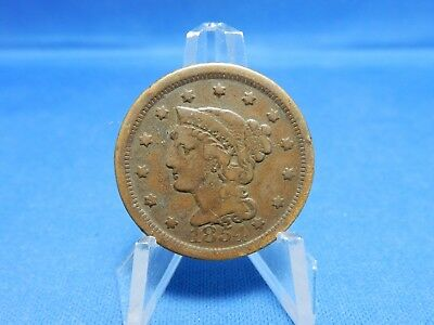 1854 Braided Hair Large Cent - Very Fine