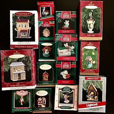 Authentic Hallmark Christmas Ornaments Lot in boxes , Read details All  Retired