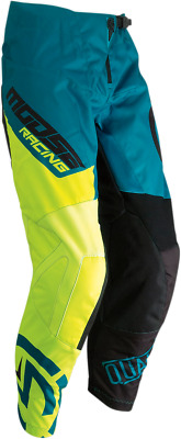 Moose Racing Qualifier Youth Pants - Teal/Hi-Viz - Size 24