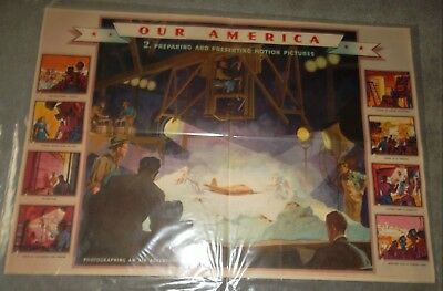COCA COLA POSTER OUR AMERICA MOTION PICTURES #2 CIRCA 1940's  DISTRIBUTION