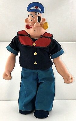 "Vintage 1976 Uneeda Doll POPEYE THE SAILOR 16"" Comic Cartoon Character Doll"