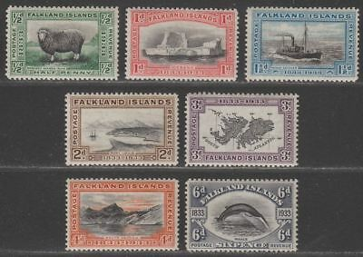 Falkland Islands 1933 KGV Centenary Set to 6d Mint SG127-133 cat £170