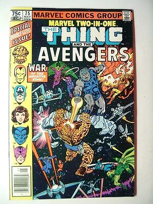 SCARCE marvel comic MARVEL TWO-IN-ONE #75 THE THING & AVENGERS hi-grade/UNREAD