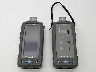 Agilent Keysight N2600A Handheld Cat6 Cable Tester 350 Wirescope+Dual Remote