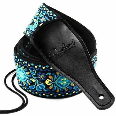 Guitar Strap Jacquard Weave Hootenanny Style Woven Braided Adjustable Strap