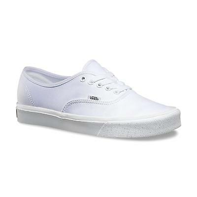 41674768bbf Vans Authentic Lite Canvas True White Men s Classic Skate Shoes Size 11.5