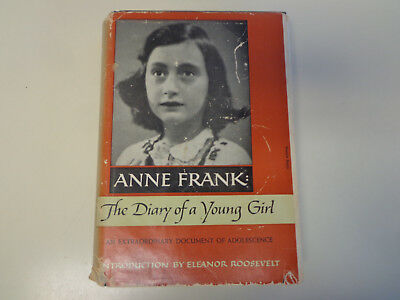 Anne Frank: The Diary of a Young Girl HBDJ 1952 Early Edition Holocaust
