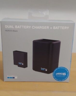 NIB GoPro HERO5 Black Dual Battery Charger and Battery