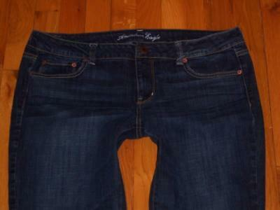 Womens American Eagle Straight Stretch Jeans Size 16 Short 16S Measures 37x29