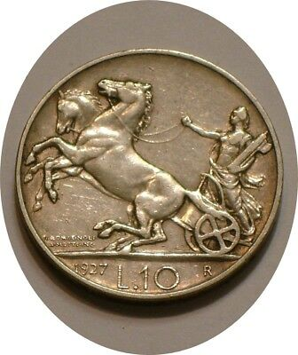 1927 Silver 10 lire of Italy FULL DETAIL