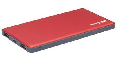 5000mAh Dual Port Power Bank Portable USB Charger, Red - GP BATTERIES