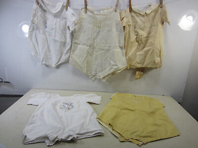 5 Vintage One Piece Cotton Button Crotch Childs Jumpers