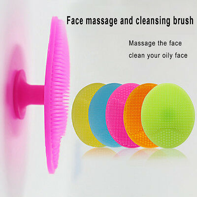 Silicone Face Cleaning Pad Brush Exfoliating Skin Pore Scrubber Cleanser Showy