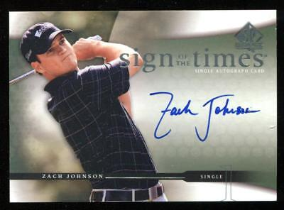 2004 SP Authentic SOTT Sign Of The Times Zach Johnson Auto RC 2007 Masters Champ