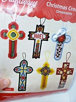 Craftways CHRISTMAS CROSSES ORNAMENTS Set of 6 Religious Ornaments Craft Kit