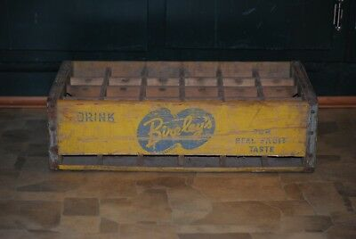 Bireleys Fruit Drink Wooden Case Crate Detroit Michigan Soda Pop Holder Rare