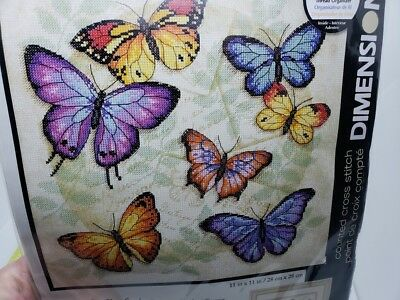 BEAUTIFUL! Dimensions BUTTERFLY PROFUSION 2004 Counted Cross Stitch Craft Kit