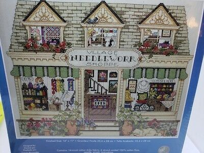 Janlynn VILLAGE NEEDLEWORK SHOPPE Counted Cross Stitch 2011 Craft Kit NEW