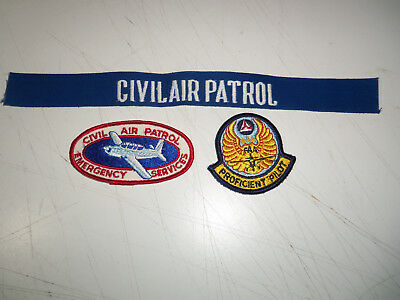 Lot 3 CIVIL AIR PATROL PATCHES - EMERGENCY SERVICES - FAA PROFICIENT PILOT