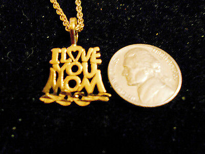 bling gold plated MOTHER love you mom pendant charm hip hop necklace JEWELRY GP